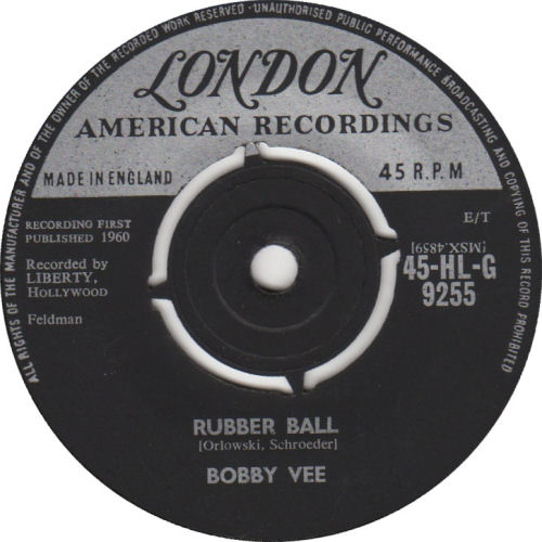 287 3 Bobby Vee Rubber Ball