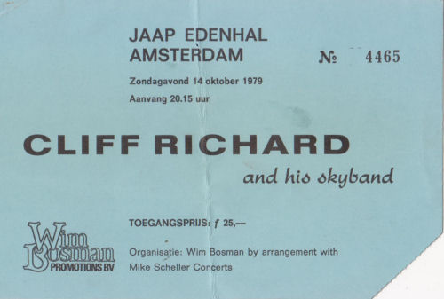 301 2 entreekaartje Cliff Richard