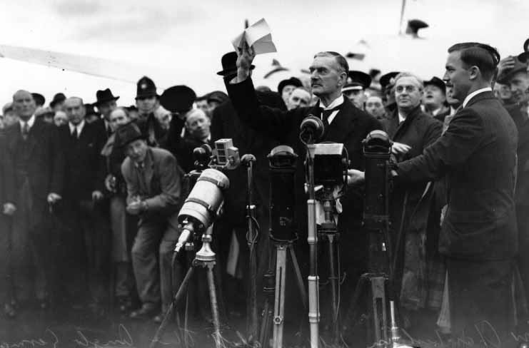 19 5 Neville Chamberlain Peace for our time 1938
