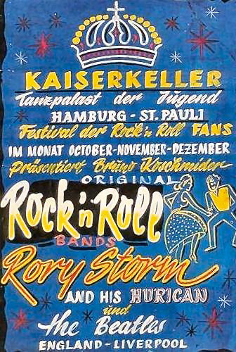 125 - 8 1960 Beatles in Hamburg poster